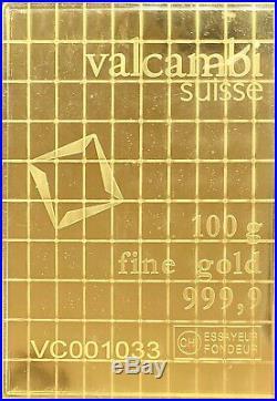 (2X) Valcambi Suisse Gold 1 Gram Bar 24KT. 9999 Fine BRAND NEW Sheet 2 BARS