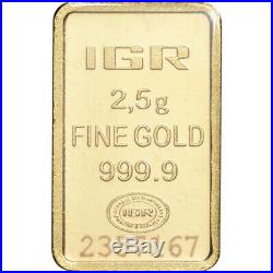 2.5 gram IGR Gold Bar Istanbul Gold Refinery 999.9 Fine in Sealed Assay