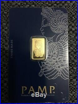 2.5g gold bar PAMP SUISSE FORTUNA Fine Gold 24ct VERISCAN A1 Collectors conditio