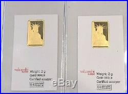 2- Gram- Valcambi Suisse Bar 999.9 Fine Gold Bar- See Other Gold Listings