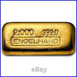2 oz Gold Bar Engelhard (Poured/1st Generation/999.0 Fine) SKU#93634