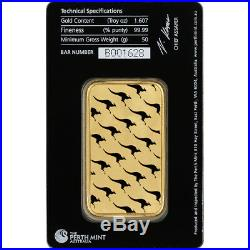 50 gram Gold Bar Perth Mint 99.99 Fine in Assay