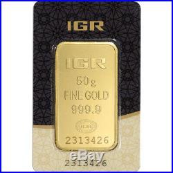 50 gram IGR Gold Bar Istanbul Gold Refinery 999.9 Fine in Sealed Assay