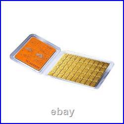 50 x 1 gram Gold Valcambi CombiBar. 9999 Fine (In Assay)
