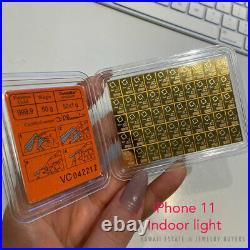 50x1 GRAM FINE GOLD 999.9 GOLD BAR VALCAMBI SUISSE COMBIBAR