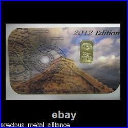 5 1 Grain Gr. 24k Pure 999.9 Fine Certified Gold Bar Bullion Grand Slam Set