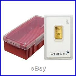 5 gram Credit Suisse Statue of Liberty Gold Bar. 9999 Fine (In Assay)