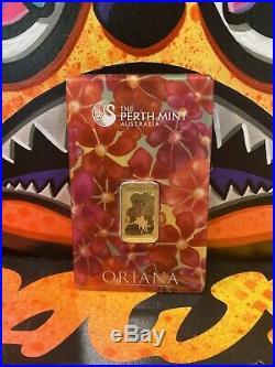 5 gram Gold Bar Oriana Perth Mint 99.99 Fine in Assay