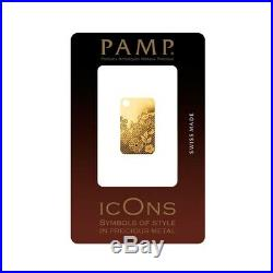 5 gram Gold Bar PAMP Suisse Valenciennes Lace. 9999 Fine (In Assay)