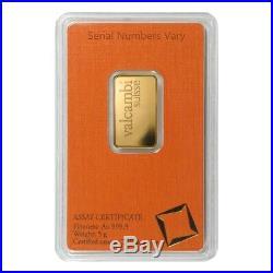 5 gram Gold Bar Valcambi Suisse. 9999 Fine (In Assay)
