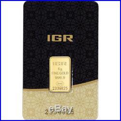 5 gram IGR Gold Bar Istanbul Gold Refinery 999.9 Fine in Sealed Assay