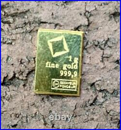 5 grams Gold Bar from Valcambi Suisse from Gold CombiBar 999.9 Fine = 5 x 1g
