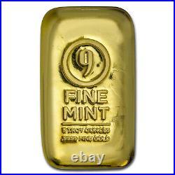 5 oz Cast-Poured Gold Bar 9Fine Mint SKU#211312