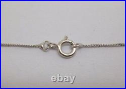 9ct White gold and diamond bar style drop pendant and 16 inch fine curb chain