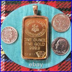 9ct gold New bullion bar bezel for one ounce fine gold ingot