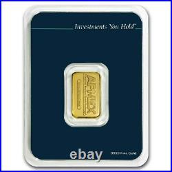 APMEX 5 Gram Gold Bar. 9999 Fine Tamper Evident Packaging TEP