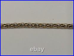 Antique 9ct Red / Rose Gold Belcher, Bar, Bead Link Necklace 16 1/2 Inches
