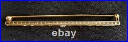 Antique Platinum 14K Yellow Gold Diamond Bar Pin Brooch Estate Jewelry- Krementz