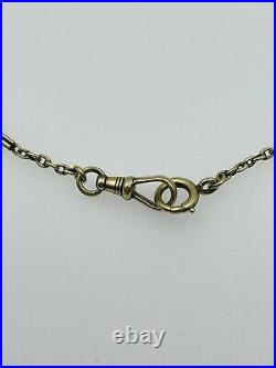 Antique Victorian 14k Yellow Gold Bar Link Watch Chain Necklace 14 1/4