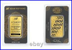 Asahi Refining 1 oz. 999 Fine Gold Bar Ingot SEALED