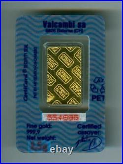 CREDIT SUISSE 2.5g 999.9 FINE GOLD BAR GEM BU IN SEALED PACKAGE