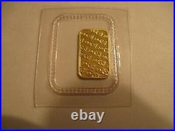 Collectible 1 Gram JM Johnson Matthey 9999 Fine Gold Bullion Bar Sealed 5314