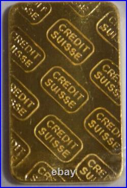 Credit Suisse 1/4 troy oz. 9999 fine gold bar