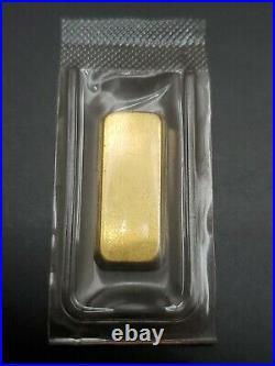 Degussa Gold 10 Grams. 9999 Fine Sealed Ingot Bar