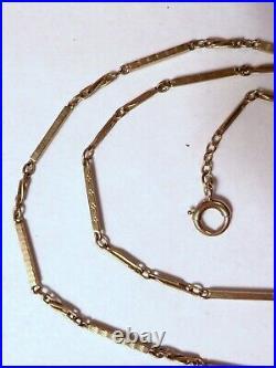 Fantastic Heavy Victorian 14K Yellow Gold 24 Pocket Watch Chain Bar & Twist