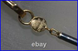 Fine Estate Gurhan 24k Gold Bead Black Silver Bar Link Chain Necklace 17 Long