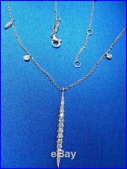 Gabriel White gold Diamond Slice Necklace 18 ADJUSTABLE chain
