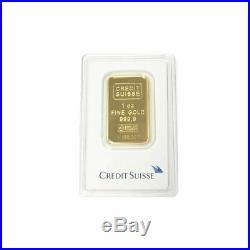 Gold 1 oz Random Brand. 9999 fine Gold Bar in Sealed Assay Card