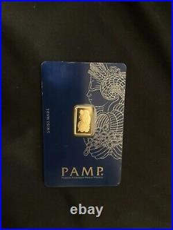 Gold Oro 2.5 gram pamp suisse Fine 1-gold bar 999.9 /Veriscan/Assayed Cert