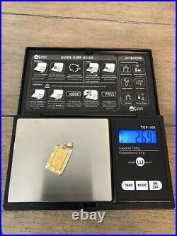 Honolulu Mint 1 Gram. 999 Fine Gold Kamehameha 1 Pendant 2.69 grams