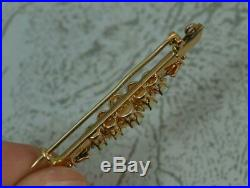 Impressive Victorian Rose Gold Colourful Opal and Diamond Bar Brooch d2032