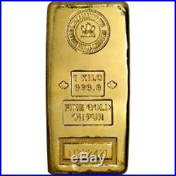 Kilo 32.15 oz Gold Bar RCM Royal Canadian Mint. 9999 Fine with Assay Certificate