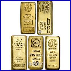 Kilo 32.15 oz Gold Bar Random Brand Secondary Market 999.9 Fine