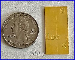 Look 6- 1 Gram (999.9 Fine) Gold Valcambi Bars, See Other Gold, Silver & Coins