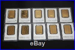 Lot Of 3 Pamp Suisse Or Credit Suisse 1 Oz. Fine. 999 Gold Bars! In Assay Card