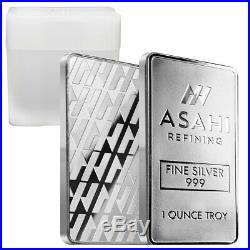 Lot of 20 1 oz Asahi Silver Bar. 999 Fine