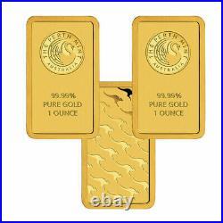 Lot of 3 Gold 1 oz Random Brand. 9999 fine Gold Bars in Sealed Assay Cards