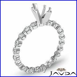 Marquise Semi Mount Fine Diamond Engagement Bar Set Ring 14k White Gold 0.4Ct