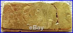 PROSPECTOR'S GOLD & GEMS POURED 1oz. 999 FINE GOLD LOAF-STYLE INGOT / BAR