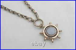 RARE VICTORIAN HM 9ct SOLID GOLD ALBERT NECKLACE with T Bar & Fob