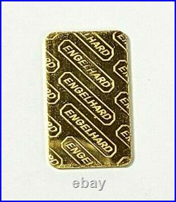 Rare 1/4 Oz Engelhard Fine Gold 999.9 Bar