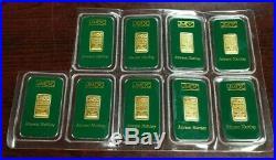 Rare Johnson Matthey 2.5 gram 9999 Fine Gold Bar Sealed In Assay Card