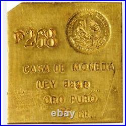Rare Mexico CASA DE MONEDA 50 gram Gold Bar Ingot. 9998 Fine