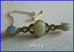 Rare Victorian 15ct Gold and Opal Snake Bar Brooch