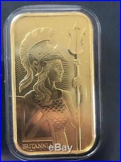 Royal Mint Britannia 1 oz Gold Bullion Bar 999.9 Fine Gold Bar Minted NEW Invest