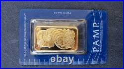 SEALED 1 Ounce Pamp Suisse. 9999 Fine Gold Bar Lady Fortuna 1oz